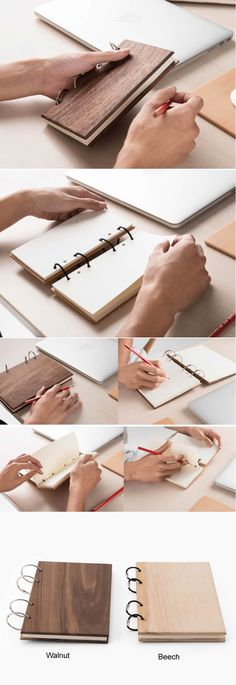 Wood Cover Loose Leaf NoteBook