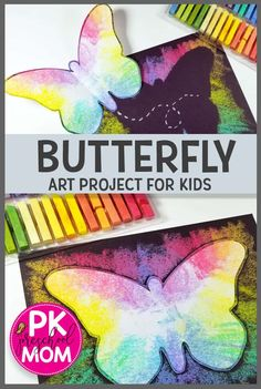 Spring Art Projects For Kids Preschool Crafts Trendy Ideas Spring Art Projects, Toddler Art Projects, Easy Art Projects, Projects For Kids, Project Ideas, Butterfly Template, Butterfly Crafts, Butterfly Art, Simple Butterfly