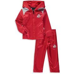 9e21fbc74196 Ohio State Buckeyes Preschool   Toddler Play Action Fleece Full-Zip Hoodie  and Pants Set - Scarlet Gray