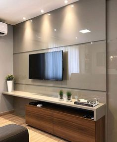 Living room tv wall decor bathroom 23 Ideas for 2019 Tv Unit Decor, Tv Wall Decor, Wall Tv, Tv Cabinet Design, Tv Wall Design, Living Room Interior, Home Interior Design, Living Room Decor, Apartment Interior
