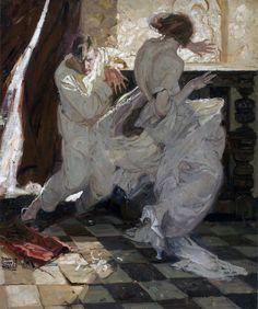 monsieurlabette:  DEAN CORNWELL UnknownOil on Canvas