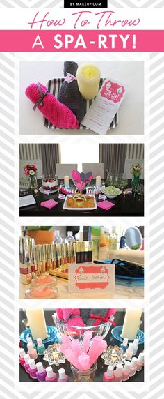 Looking to throw a fun, themed party with your girlfriends? Throw a DIY Spa-rty! These adorable downloadable invitations, place cards, and welcome sign will make your at-home spa party a success!: