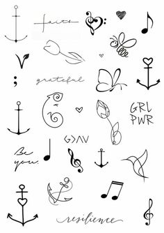 mini tattoos with meaning * mini tattoos . mini tattoos with meaning . mini tattoos for girls with meaning . mini tattoos with meaning for women Kritzelei Tattoo, Doodle Tattoo, Tattoo Drawings, Tattoo Bird, Tattoo Flash, Tattoo Quotes, In Ear Tattoo, Henna Tattoo Wrist, Filigree Tattoo