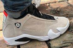 df359abca66 The Air Jordan 14 Desert Sand is featured in a lifestyle look and it's  dropping on May