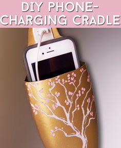 Transform An Empty Shampoo Bottle Into A DIY Phone-Charging Cradle