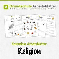 Kostenlose Arbeitsblätter und Unterrichtsmaterial für den Sachunterricht zum Thema Religion in der Grundschule.