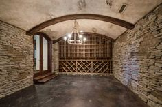 Wine Cellar, ready for you to stock it, and furnish it...