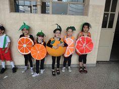 Fruit Costumes, Group Costumes, Diy Costumes, Medium Hair Cuts, Medium Hair Styles, Felt Fruit, Art Competitions, Orange Dress, Crafts For Kids