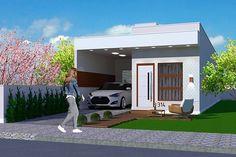Planta de casa Marabá: projeto arquitetônico com área total de 69,52m², terreno com dimensões mínimas de 5 x 25m contendo 2 quartos, 1 banheiro e 1 garagem.