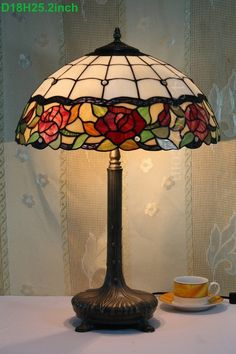 Rose Tiffany Lamp 18S0-51T766