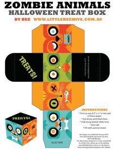 We Love to Illustrate: FREE printable Halloween Treat Box