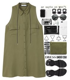 """""""And nøw I just sit in silence"""" by mysecretismine ❤ liked on Polyvore featuring AERIN, MANGO, ASOS, Forever 21, e.l.f. and Dressunder50"""