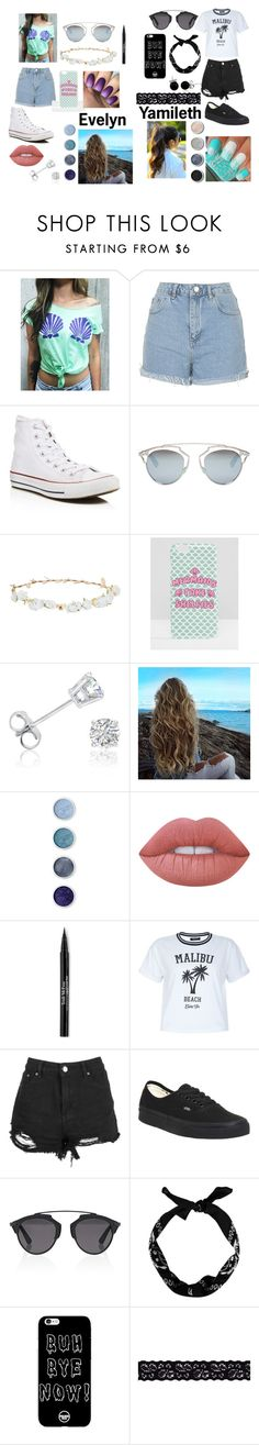 """""""Beach Days"""" by princessevelyn31 on Polyvore featuring Topshop, Converse, Christian Dior, Robert Rose, Missguided, Amanda Rose Collection, Terre Mère, Lime Crime, Trish McEvoy and New Look"""