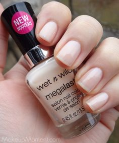 Wet n' Wild Megalast Nail Colors: 2% Milk. Great my-nails-but-better shade!