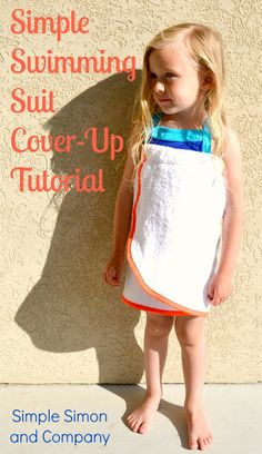 Easy Swimming Suit Cover Up Tutorial- make a few for the family with our terry velour beach towels- http://www.dharmatrading.com/clothing/terry-velour-beach-towel-blanks.html