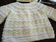 Labores de siempre: Conjunto bebé en punto de conchas Baby Knitting Patterns, Baby Sweater Knitting Pattern, Knit Baby Sweaters, Knitting For Kids, Crochet For Kids, Baby Patterns, Crochet Baby, Knit Crochet, Baby Jessica