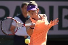 """6/5/14 1st-time SemiFinalists Simona Halep & Andrea Petkovic faced off at Roland Garros. Simona triumphed 6-2, 7-6. Next up is #7-Seed Maria Sharapova, the 2012 Champion. SIMONA: """".. Next rd will be very tough.  I know Maria, she is a great champion. I played in the Madrid (FINAL) against her, but why not, maybe I will take the revenge. I will do everything on court. I will enjoy the FINAL because I am really happy that I won today."""""""