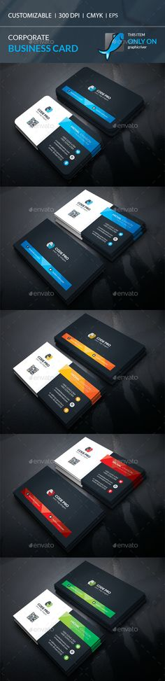 #Business #Card - Corporate Business Cards Download here:  https://graphicriver.net/item/business-card/18684876?ref=alena994