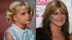 SUSAN OLSEN - Cindy Brady in the Brady Bunch, starting at 8 years old. as an adult in graphic design and started a brand of glow in the dark Converse shoes. Celebrities Then And Now, Young Celebrities, Celebs, Ann B Davis, Brady Kids, Tv Moms, Age Progression, The Brady Bunch, Celebrity Stars