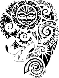 Removable Fake Temporary Water Transfer Tattoo Stickers A polynesian tattoo design in maori style Fa Maori Tattoos, Tribal Tattoos, Maori Tattoo Frau, Ta Moko Tattoo, Tattoo Son, Filipino Tattoos, Samoan Tattoo, Sun Tattoos, Tattoo Pics