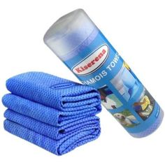 Kiserena Chamois Towel (Blue) - Fast Dry Chamois Cloth Ideal for Hair, Pet, Dish, Car Drying, Easy Cleaning or Swimming. Super Absorbent Cooling Towel for Extreme Hot Weather, Workout or Sports. One Towel Per Tube. Includes Free Ebook and 100% Money Back Guarantee Chamois Towel http://www.amazon.com/dp/B00EEEB77I/ref=cm_sw_r_pi_dp_wi6Avb1QCTBG5