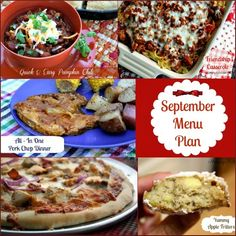 Mommy's Kitchen - Country Cooking & Family Friendly Recipes: September Menu - Menu Plan Monthly