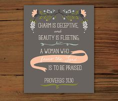 Proverbs 3130 8x10 Poster Print by FrenchPressMornings on Etsy, $20.00