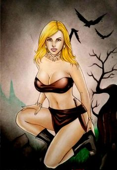 JUNGLE GIRL BY artist SIDNEY CINTRA-ART PINUP Drawing Original COMIC #PopArt