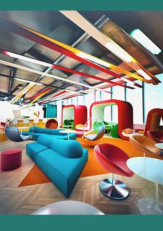 Project office BOB by Galina Lavrishcheva, via Behance