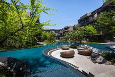 Baan San Ngam | Hua Hin, #Thailand | Shma #landscape #architecture #infinity #edge #sunken #seating area