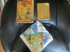 RARE BOY SCOUT PAPER NAPKIN with Diary and Tenderfoot and Queen Scout Books
