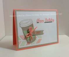 Stampin' Fun with Diana: Create with Connie and Mary Color Challenge: Perfect Blend Birthday Greetings, Perfect Blend, Bring on the Cake, Birthday card, Hip Notes, Stampin' Up, Diana Eichfeld