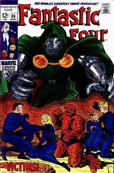 Fantastic Four Doctor Doom, Jack Kirby Comic Book Artists, Comic Book Characters, Comic Artist, Marvel Characters, Fantastic Four Comics, Mister Fantastic, Silver Age Comics, Vintage Comic Books, Vintage Comics