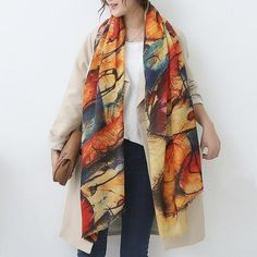 Marte&joven Colorful Floral Print Lace Fringes Voile White Scarf For Women Big Size Elegant Spring Autumn Warm Shawls Pashmina Back To Search Resultsapparel Accessories