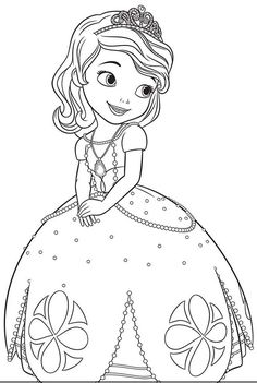 free printable sofia the first coloring pages, activity sheets! - Princess Tea Party Coloring Pages