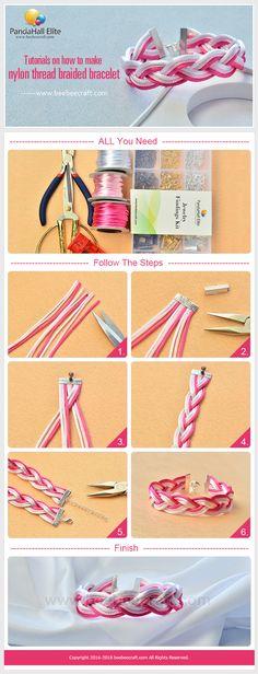 on how to make Diy Bracelets With String, Diy Bracelets Easy, Bracelet Crafts, Jewelry Crafts, Wire Jewelry, Beaded Jewelry, Beaded Bracelets, Friendship Bracelet Patterns, Friendship Bracelets