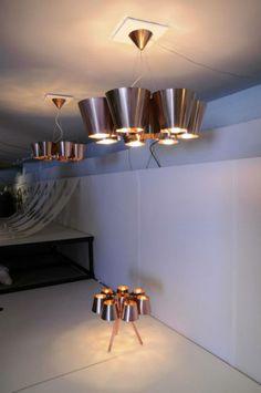Gimmii Magazine I COPPER CONE lampen van Marnix de Stigter. Te zien op Tuttobene presentatie in Zona Tortona, Milaan. Fotocredits Gimmii, Nanda Ravehttp://www.gimmii.nl/dutch-design/copper-cone-marnix-de-stigter/