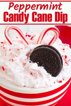 Real candy canes make this easy dessert a festive choice for the holidays. Serve this peppermint candy cane dip with cookies, graham crackers or even pretzels. No bake Christmas dessert your guests will love. #christmas #peppermint #candycanes #dips #holidays #nobake #desserts #sweets Potluck Desserts, Sweet Desserts, Easy Desserts, Dessert Dips, Potluck Ideas, Potluck Recipes, Party Recipes, Christmas Desserts Easy, Christmas Snacks