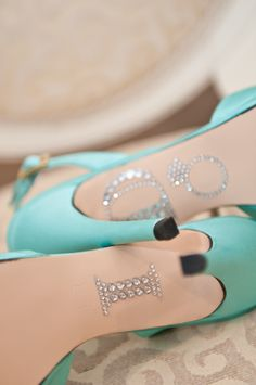 For the reception I want a white gown and Tiffany blue shoes - I want to add this to my shoes!