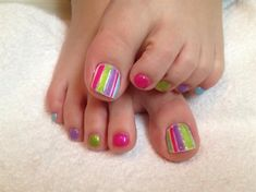Summer toes by Melinailfreak - Nail Art Gallery nailartgallery.nailsmag.com by Nails Magazine www.nailsmag.com #nailart