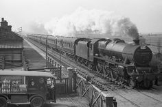 Jubilee 4-6-0 No. 45719 'Glorious' passes through Smithy Bridge with another of the Wigan to Wakefield rugby specials on March 24th 1962.