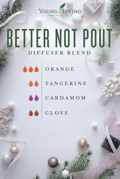 Young Living: 12 Days of Christmas Diffuser Blends! Cardamom Essential Oil, Clove Essential Oil, Essential Oil Diffuser Blends, Doterra Essential Oils, Young Living Essential Oils, Doterra Blends, Yl Oils, Aroma Diffuser, Essential Oils Christmas