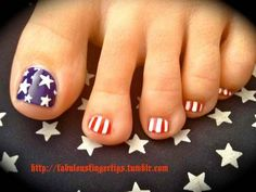 Flags on toes