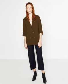 "Meet the ""shacket,"" the shirt-jacket hybrid that's our new favorite fall addition.Zara Crossover Jacket, $129, available at Zara. #refinery29 http://www.refinery29.com/best-zara-clothing-shop-now#slide-2"