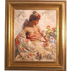 Superb impressionistic original oil painting by highly listed Spanish master Jose ROYO ( 1941-). 40K painting at rubylane.com #rubylane #fineart