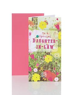 Special Daughter-In-Law Floral Birthday Card
