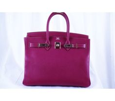 Hermes Tosca Epsom & Rose Tyrien Candy Collection 35cm Birkin Bag - Limited Edition