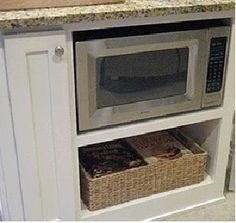 microwave cabinet!!!! Why didn't I think of this!??? Hopefully it's not too late to include this in the reno plan!!!