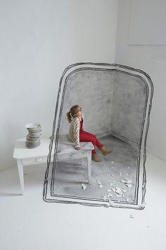 Superbes illusions Anamorphiques dans des Tableaux par Ella & Pitr Photo