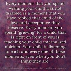 A dose of truth. I love Parenting Autistic Children with Love and Acceptance. One of the best Autism Acceptance pages that exists. Please check them out. It's an *Autistic Safe Space*